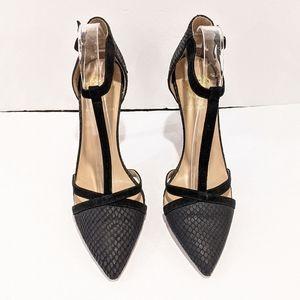 Vince Camuto black t strap heels sz 9.5